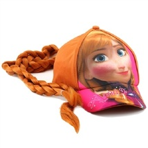 Girl's Disney Frozen Anna Dress-Up Baseball Cap Wig Hat With Braided Red... - $10.00