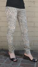 Current Elliott The Ankle Skinny Canvas Snake Grey Stretch Denim Jeans 2... - $42.26