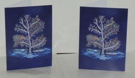 Painted Trees Peacocks Frameable 5X7 Christmas Card 3 Designs Package 6 image 4