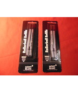 2 Packs of 2, Mont Blanc Rollerball Refills, Sealed Mont Blanc Packages. - $14.99