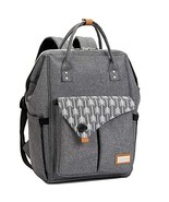 Lekebaby Large Diaper Bag Backpack for Mom in Grey with Arrow Print - $41.85