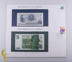 1973-1982 Noruega 10 Coronas & Países Bajos 5 Gulden Gem UNC Billetes 2P... - $39.54