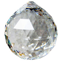 Swarovski 30mm Clear Crystal Faceted Ball image 2
