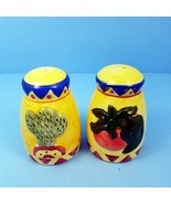 Southwest Salt and Pepper Shakers Vintage Ceramic Cactus and Peppers Hom... - $12.34