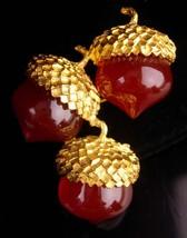 vintage Acorn brooch - Good luck victorian symbol - magical nut - costum... - $75.00