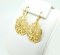 935 Sterling Vermeil Laser Cut Earrings (#J4401) - $150.00