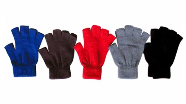 Case of [240] Fingerless Gloves - Assorted Colors