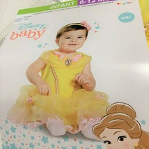 Infant Belle Costume 6 12 months Dress up  NEW Disney Princess - $22.53