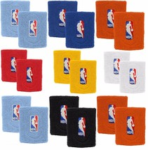 Basketball NBA Logo Wristbands - Multiple Colors Blue Red Orange White L... - $7.83+