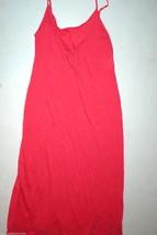 New Designer Natori Night Gown Long Orange S Womens Red Watermelon Adjus... - $117.00