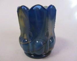 Boyd Glass Beaded Oval Toothpick Frosty Blue & Orange B In Diamond - $9.99