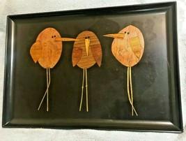 "EAMES ERA MID CENTURY MODERN- COUROC THREE BIRDS (WHIMSICAL) TRAY 18"" x ... - $74.95"