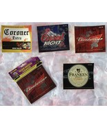 Halloween Glow In Dark Bottle Stickers Labels 1 Pkg of 12 With 4 Designs... - $9.99