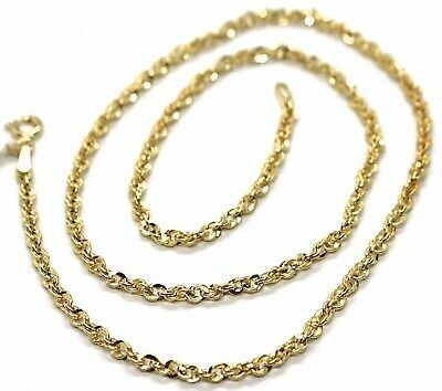 18K YELLOW GOLD ROPE CHAIN, 17.7 INCHES BRAIDED INFINITE FACETED ALTERNATE LINK