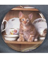 Teatime Tabby Collector Plate Picture Purrfect Crestley Collection Kitten 1993 - $14.95