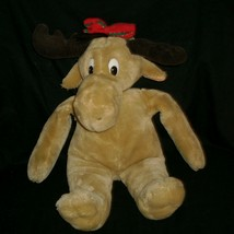 VINTAGE 1987 COMMONWEALTH HOLLY CHRISTMAS MOOSTLETOE STUFFED ANIMAL PLUS... - $18.70