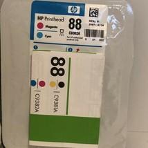 HP 88 Magenta/ Cyan Printhead C9382A Genuine New Sealed Bag - $19.70