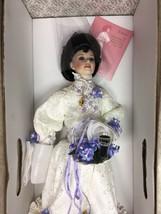 EMMA Coca Cola Porcelain 20 Inch Doll Franklin Mint Coke Glass Flower Ba... - $129.95