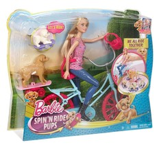 Barbie Spin 'N Ride Pups Doll & Puppy Figures + Bike Playset. New - $38.02