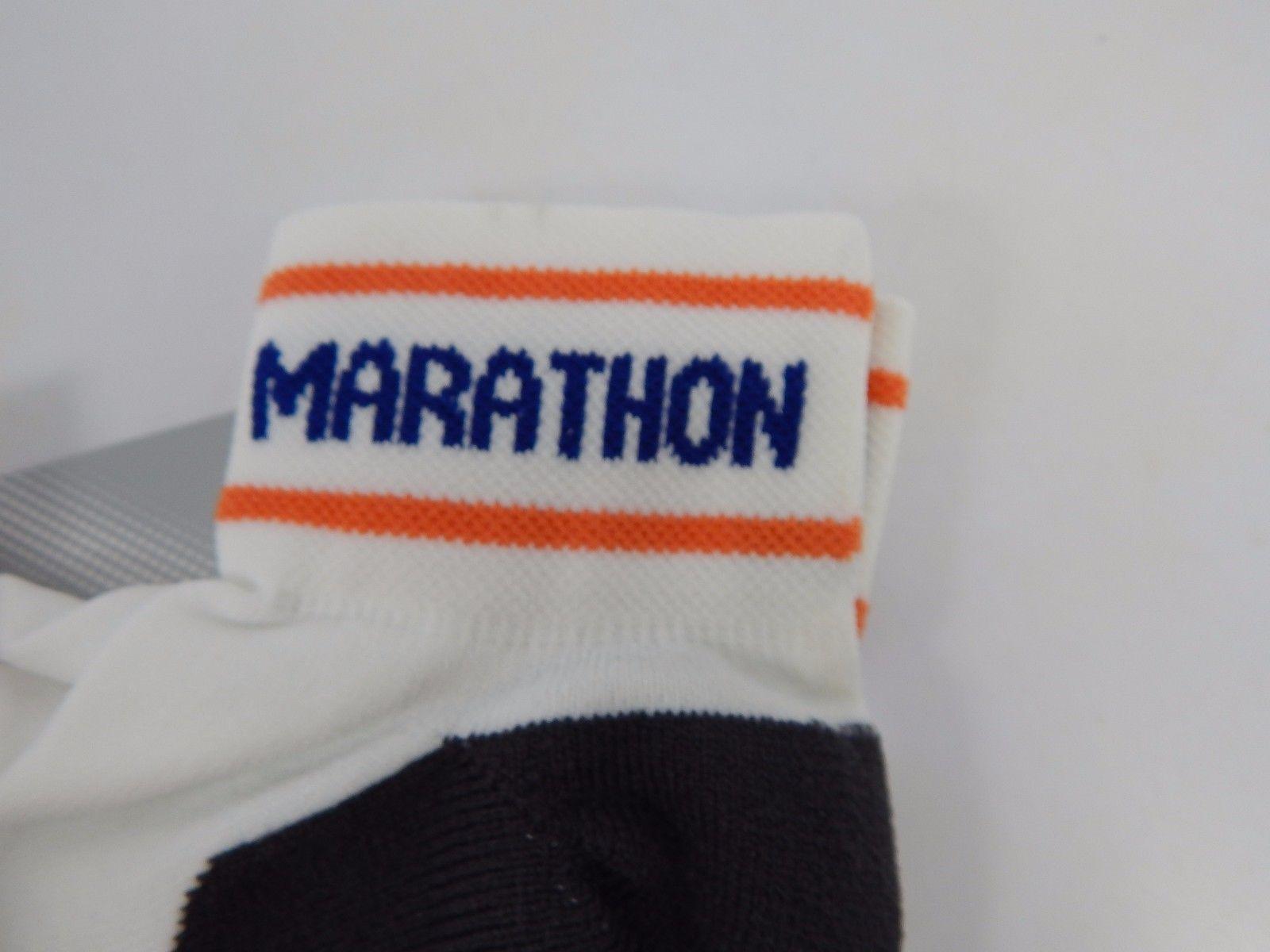 Asics Marathon Performance Sock L Large Size 9.5-11.5 Men/ 10+ Women White/Black