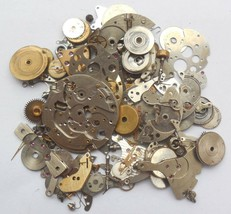 30+gram Vintage Steampunk Watch parts, Wheels Parts, other small parts. D-509