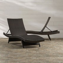 Adjustable Chaise Lounge Set Of 2 Pool Recliner Patio Furniture Chair La... - $445.49