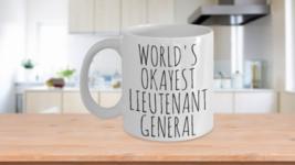 Worlds Okayest Lieutenant General Mug Military Funny Christmas Gift Idea... - $14.65+