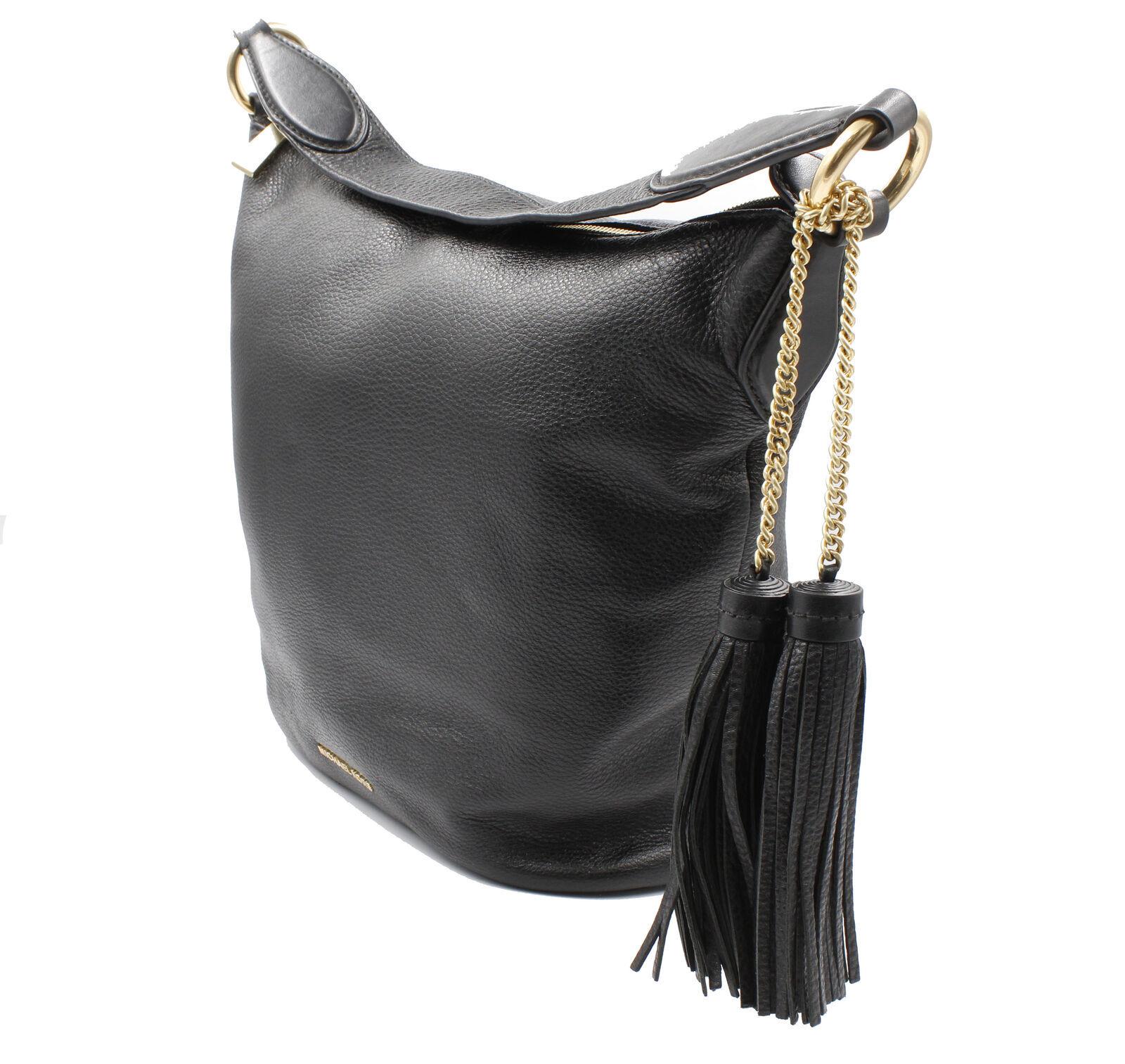 Michael Kors Black Leather Shoulder Womens Bag 30940