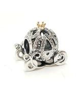 GENUINE Pandora Disney Cinderella's Pumpkin Carriage Coach Charm Sterlin... - $47.49