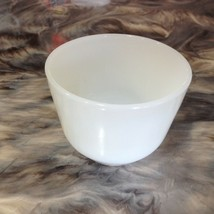VINTAGE ANCHOR HOCKING FIRE KING MILK GLASS SMALL CUSTARD CUP BOWL - $1.99