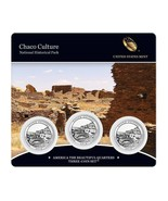 2012 US Mint America The Beautiful 3 Coin Set Chaco Culture Nat. Histori... - $21.95