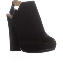 Report Libbie Platform Sling-Back Dress Sandals, Black, 10 US - $26.87