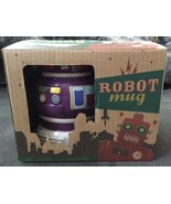 Novelty Robot Mug - Coffee Tea Cup Retro Geek Funky Boxed Gift Ceramic P... - $12.86