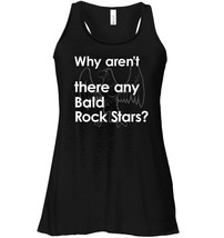 Novelty Bald Flowy Racerback Tank for Smooth Head Rock Star Guys - $26.95+