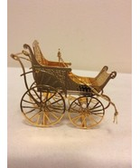 """1988 """"Baby Carriage"""" Danbury Mint Gold Christmas Ornament  - $14.95"""