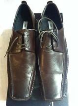 Steve Madden da Uomo Nuovo Marrone Scuro in pelle Scarpe Eleganti Misura: 9 - $74.25