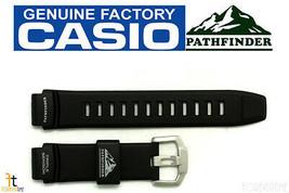 Casio Pathfinder PAW-2000 Original 18mm Caucho Negro Correa para Reloj de - $60.41