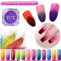 Thermochromic Pigment Thermal Color Change Temperature Nails Powder 31 d... - $10.40
