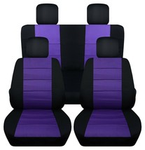 Front and Rear car seat covers Fits Jeep Wrangler JK 2007-2017  black and purple - $140.24+