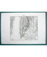 1846 MAP - ITALY Environs of Garda Rivoli Castelletto Prada Spiazzi Tosc... - $16.43
