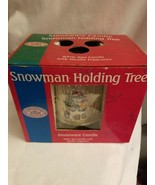Renwick Candles Snowman Holding Tree Stoneware Candle Vanilla Scent - $5.89
