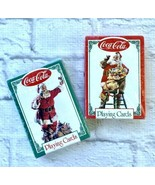 Coca-Cola Playing Cards Santa Claus Lot of 2 Decks Sealed New 1994 Chris... - $6.83