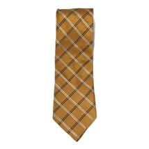 Tommy Hilfiger Vintage Mens Neck Tie Copper Orange Striped 100% Silk Mad... - $13.10