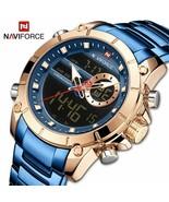NAVIFORCE® Men Watches Military Sport Wrist Watch Gold Quartz Steel Wate... - $47.34+