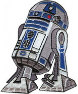 Star Wars R2-D2 Droid Standing Figure Image Embroidered Die-Cut Patch NE... - $7.84