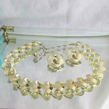 Vintage KRAMER Classic Elegant Swirl Pattern Choker Necklace Earring Set... - $22.49