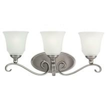 Sea Gull Lighting Parkview 23 in. W 3-Light Antique Brushed Nickel Vanity Light - $94.00