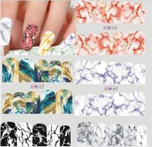"""HS Store - 1 Sheets Nail Art Marble Image Water """"BN623"""" Full Cover Decals - $2.51"""