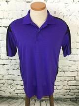 IZOD Perform-X Men's Sz M Shirt Blue Short Sleeve Polo Golf Sport Casual - $14.84
