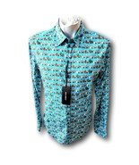 Dolce & Gabbana Mens Shirt Sicilia Cactus Blue Italy Size 41 LS New Tags On - $299.97